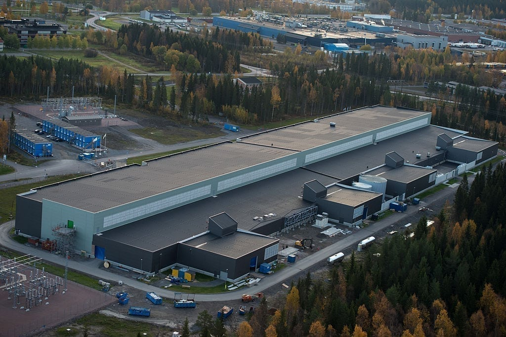 Facebook Data Centre in Luleå, Sweden.