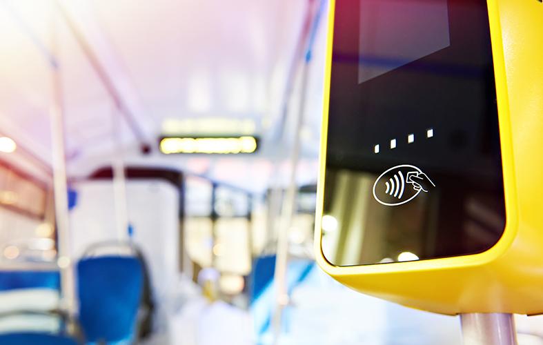 Interior of public transport